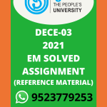 DECE-3 Services and Programmes for Children SOLVED ASSIGNMENT in English 2021