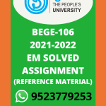 BEGC-106 Popular Literature in English Solved Assignment 2021-2022
