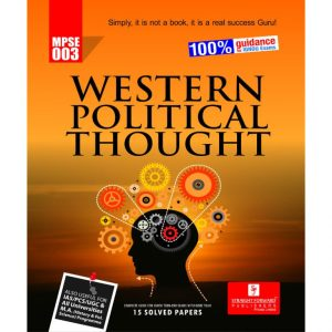 MPSE-003 Western Political Thought (Ignou Help Book)