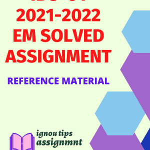 IBO-01 International Business Environment in English SOLVED ASSIGNMENT 2021-2022