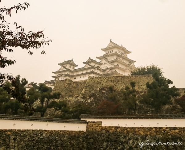 Castello di Himeji immerso dalla nebbia
