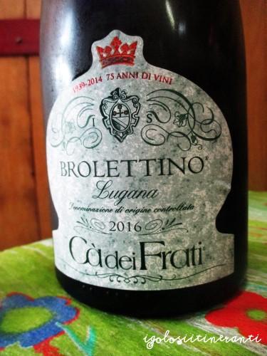 Vino bianco Brolettino, Lugana Riserva dell'azienda Cà dei Frati