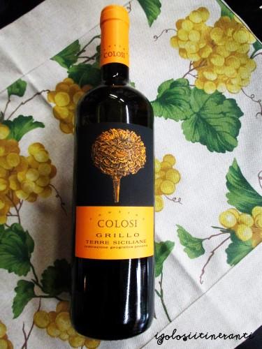 Vino bianco Grillo azienda Colosi