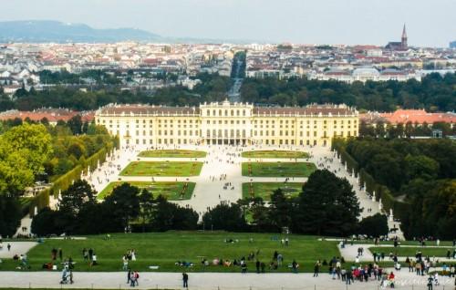 Vista della Reggia di Schonbrunn (Vienna)
