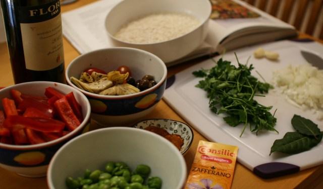 Paella di verdure, ingredienti