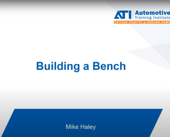 Building a Bench with ATI Coach Mike Haley