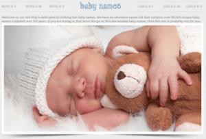 Baby Names Screen Shot