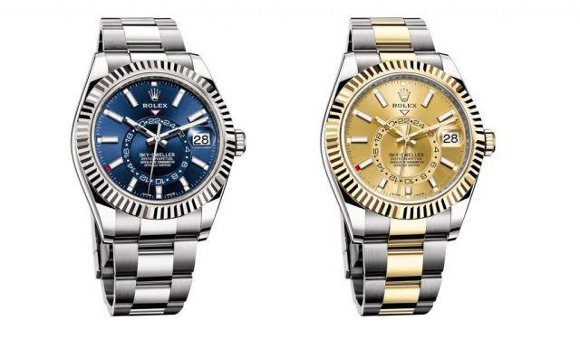 Rolex Sky-Dweller acero azul 326938