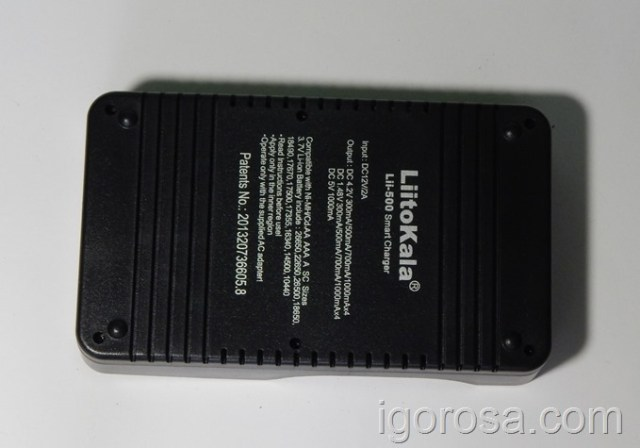 ТТХ зарядного устройства LiitoKala Lii-500