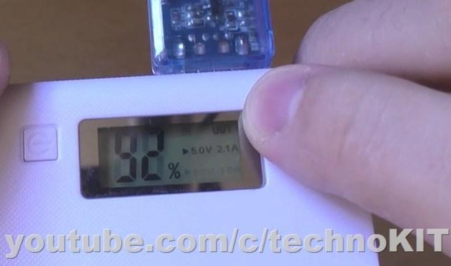 Индикация процента заряда и порта под нагрузкой