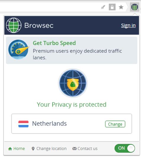 Browsec позволяет обойти блокировку сайтов