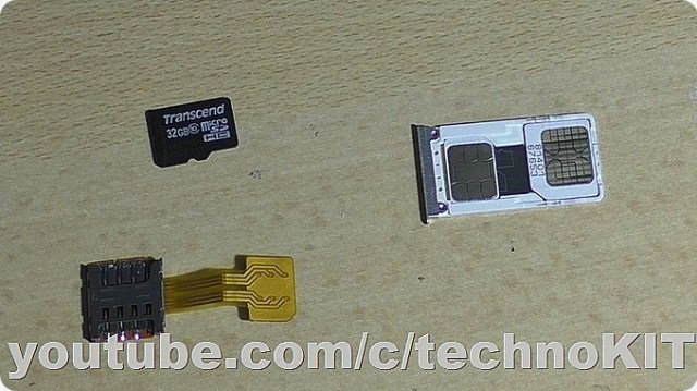 Подготавливаем сим-карты и микро СД для установки в гибридный слот одновременно