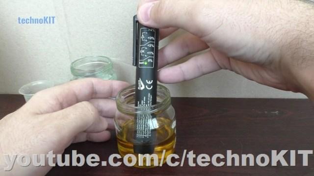 Замер тормозной жидкости тестером с 0% воды