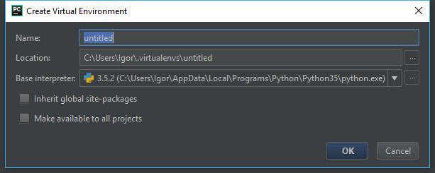 Создаем VirtualEnv