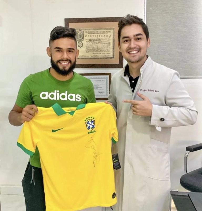 Jogador seleçao brasileira Felipe Jonatan e dentista Igor Ribeiro