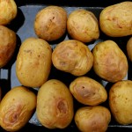 Baking potatoes for Salad Olivieh | I got it from my Maman