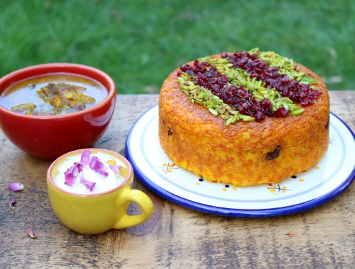 Tahchin-e Goosht - Persian Rice Cake with Lamb