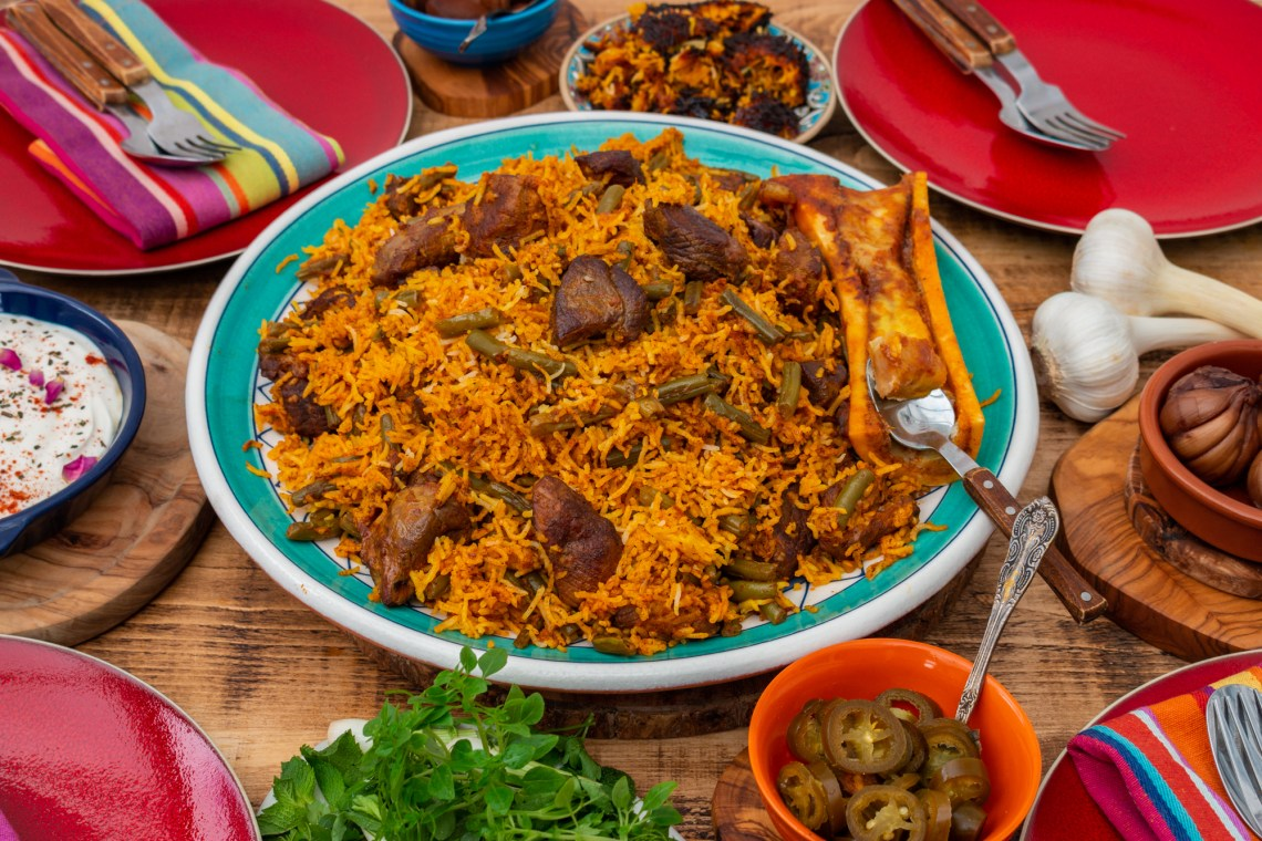Loobia Polo - Persian Lamb and Green Bean Rice Recipe