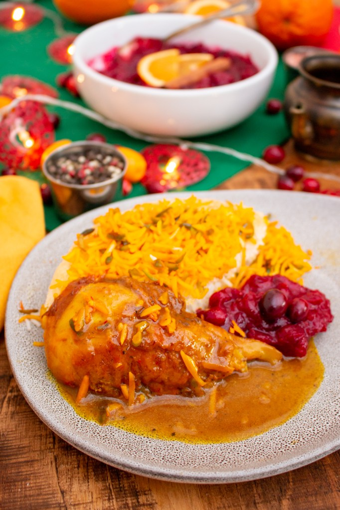 Turkey Leg Persian Style - Khoresh-e Booghalamoon | Persianised Christmas Dinner | I got it from my Maman