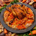 Havij Polo ba Morgh Recipe - Jewelled Carrot Rice with Poussin | igotitfrommymaman.com #persianrecipes