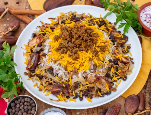 Adas Polo Recipe - Persian Lentil Raisin and Date Rice | igotitfrommymaman.com #persianrecipes