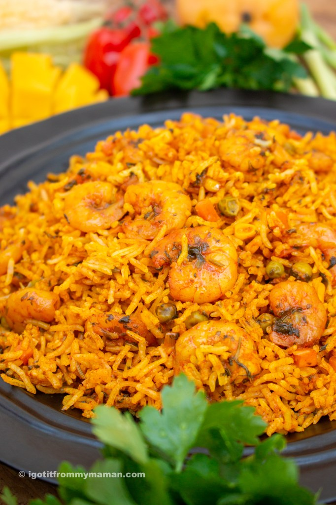 Meygoo Polo Recipe | Persian Prawn Rice | igotitfrommymaman.com #persianrecipes #persianfood