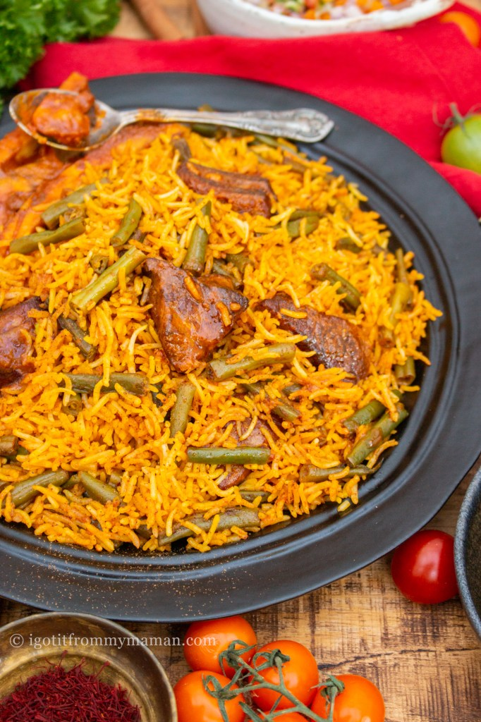 Loobia Polo Recipe | Persian Lamb and Green Bean Rice | igotitfrommymaman.com #persianfood #persianrecipes