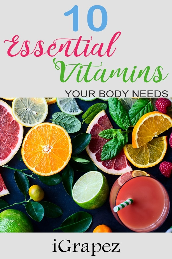 10 Essential Vitamins Your Body Needs- [Healthy Living]