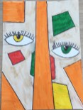 Abstraktes Gesicht 6