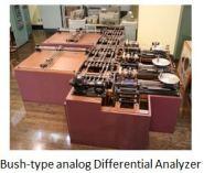TUS-Bush-type analog Differential Analyzer
