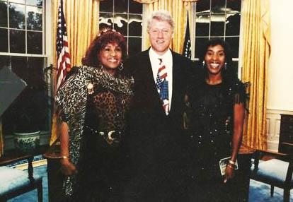 Faye and Tina at White House