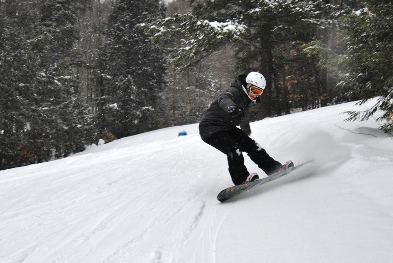 Cranmore - Snowboarding in the Powder