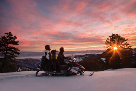 Mt. Washington Valley Snowmobile Sunset