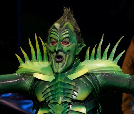 Patrick Page as the Green Goblin in Spider-Man Turn Off the Dark