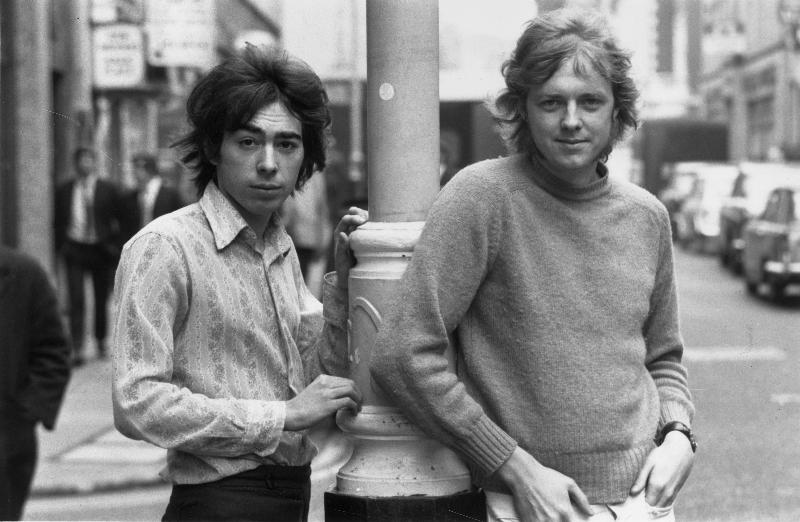 Andrew Lloyd Webber and Tim Rice circa 1970