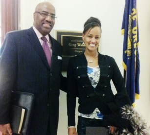 Sophia Bekele with Austin Copper in Washington DC Congress Offices