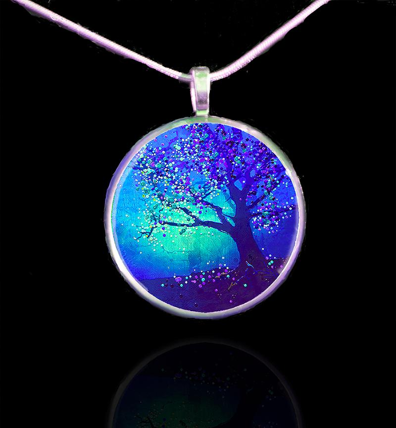 Firefly Tree Pendant. Dazzling, deep, and mesmerizing. Click here.