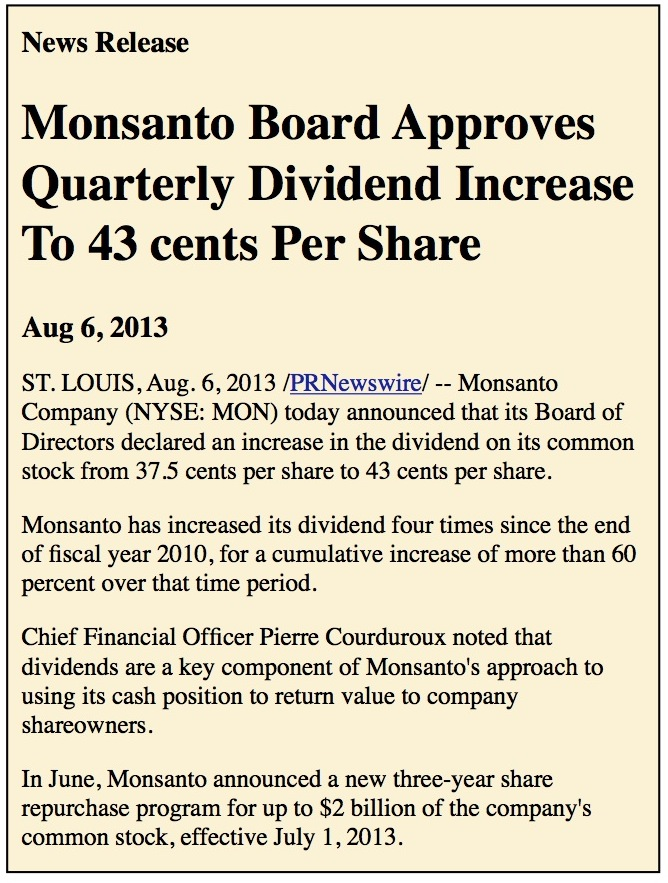 Monsanto news