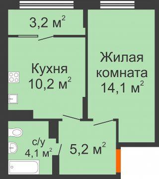 Купить 1-комнатную квартиру в доме № 31 ЖК Новая Кузнечиха ...
