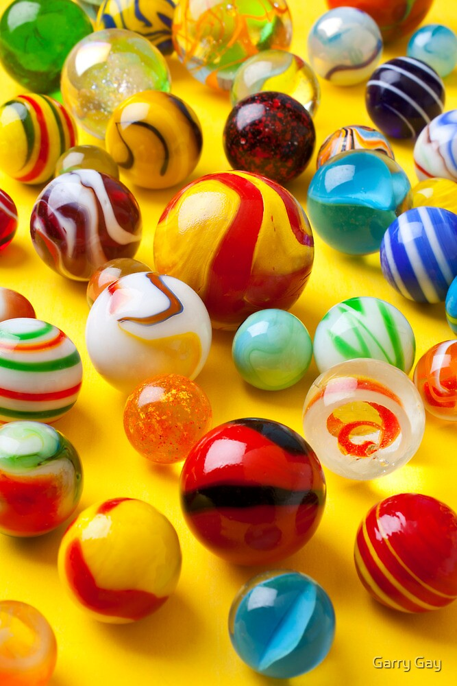 Lots Of Colorful Marbles By Garry Gay Redbubble