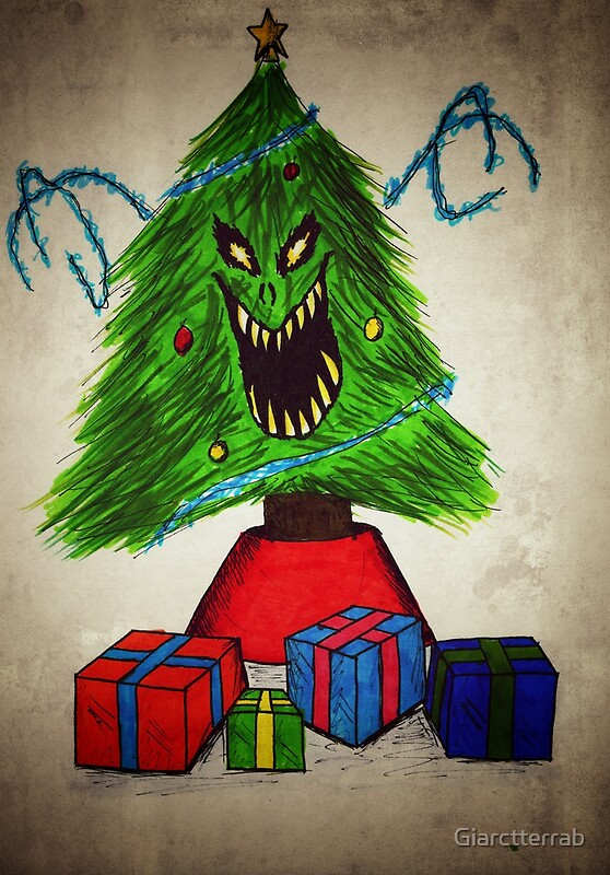 Evil Christmas Tree Photographic Prints By Giarctterrab