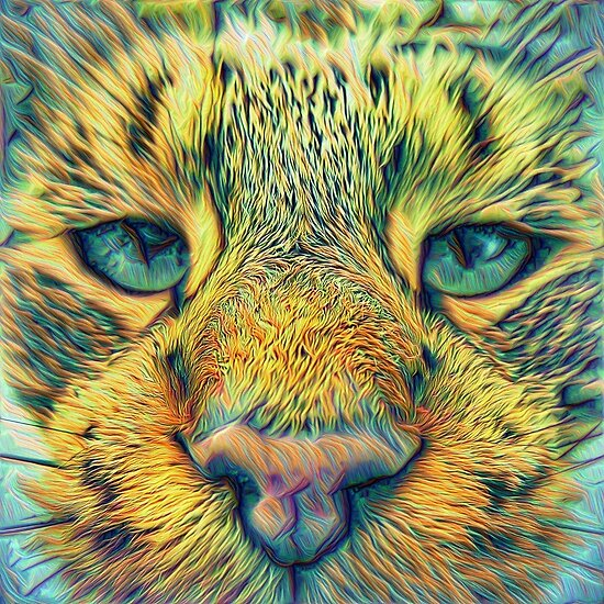 #DeepDreamed Cat 4x4K v1449127170