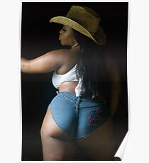 Sexy Plus Bbw Thick Plussize Ebony Curves Curvy Poster