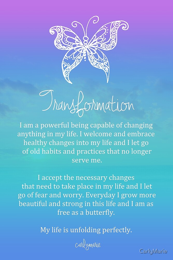 Affirmation Transformation By CarlyMarie Redbubble