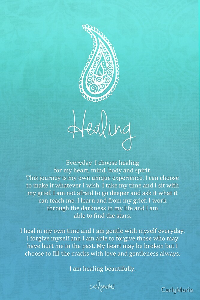 Affirmation Healing By CarlyMarie Redbubble