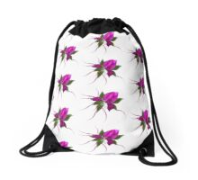 Pink Bloom Drawstring Backpack