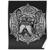 Frenchie Bulldog Mandala Poster