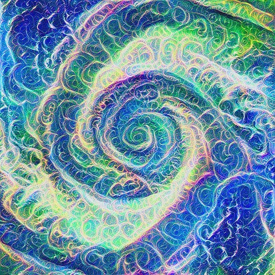 Vortex dragon #DeepDream B