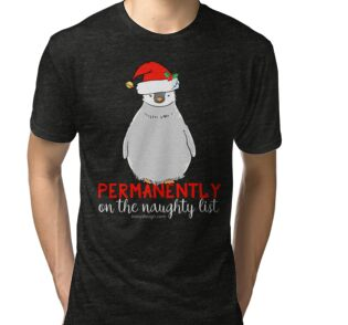 'Permanently On The Naughty List' T-Shirt by ironydesigns