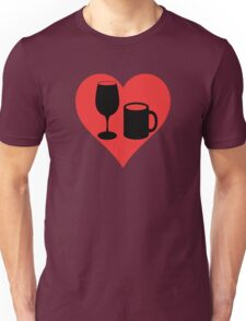 Powered on Coffee & Wine (Black) T-Shirt